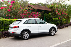 Audi Q3 2014 test drive Stock Photos
