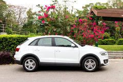 Audi Q3 2014 test drive Stock Photo