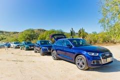 Audi Q5 2017 testa Prowadnikowy dzień Fotografia Royalty Free