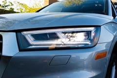 Audi Q5 2017 testa Prowadnikowy dzień Fotografia Stock