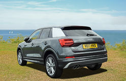 Audi q2 tfsi car. Photo of a high performance audi q2 tfsi sportscar on display at whitstable car show 23rd july 2017 Royalty Free Stock Photo
