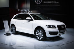 Audi Q5 bij de Internationale tentoonstelling van Moskou Royalty-vrije Stock Afbeelding