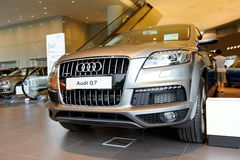 Audi Q7 luxury SUV at opening of Audi Centre Singapore Stock Photos