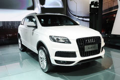 Audi q7 suv Royalty Free Stock Photo