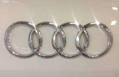 Audi quatre anneaux Photos stock