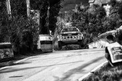 AUDI QUATTRO 1983 bieżnego samochodu stary wiec Zdjęcie Stock