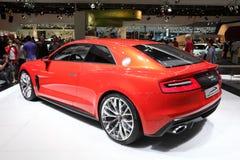 Audi Quattro Concept på AMIEN Leipzig Tyskland Arkivbilder