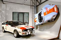 Audi Quattro et Colani GT Photographie stock