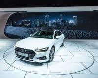 Audi 2018 A7 Quattro, NAIAS Imágenes de archivo libres de regalías