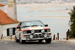 Audi Quattro during Rally Sprint Royalty Free Stock Photo
