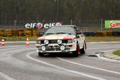 Audi Quattro during Rally Verde Pino 2012 Stock Photo