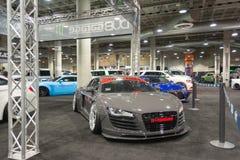 Audi que adapta en la exhibición Imagen de archivo