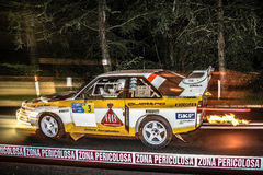 Audi qutro i handling Royaltyfri Foto