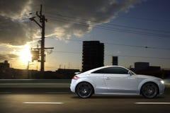 Audi R8 управляя быстро Стоковые Фото