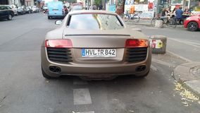 Audi. R8 Berlin Kreuzberg schnell matt Royalty Free Stock Image