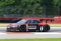 Audi R8 car on the track Royalty Free Stock Photos