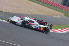 Audi R18 e-tron Car Number 2 competing at the 6 Hours of Silverstone. Audi LMP1 race Car at Silverstone royalty free stock image