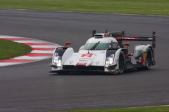 Audi R18 e-tron Car Number 2. Audi etron LMP1 competing at the 6 hours of Silverstone April 2014 royalty free stock photos