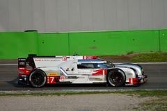 Audi R18 E-Tron Quattro LMP1 Monza prov 2015 Royaltyfri Bild