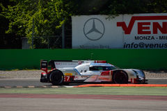 Audi R18 E-Tron Quattro LMP1 Monza test 2015 Royalty Free Stock Photos