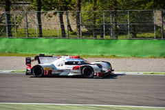 Audi R18 E-Tron Quattro LMP1 Monza test 2015 Stock Photo