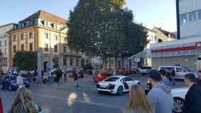 Audi R8   Ferrari Stock Photo