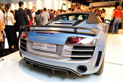 Audi R8 GT Spyder on display at Audi Fashion Festival 2012 Royalty Free Stock Photos