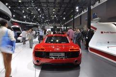 Audi R8 i GuangZhou internationell bilutställning royaltyfria foton