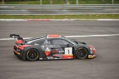 Audi R8 LMS GT3 2016 prov på Monza Royaltyfri Foto