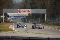 Audi R8 LMS GT3 2016 prov på Monza Arkivbilder
