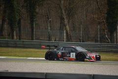 Audi R8 LMS GT3 2016 prov på Monza Royaltyfria Bilder