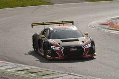 Audi R8 LMS GT3 2016 prov på Monza Fotografering för Bildbyråer