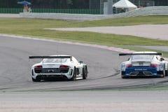 Audi R8 LMS GT3 racerbil Arkivbilder
