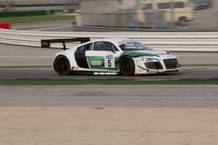 Audi R8 LMS racerbil Royaltyfri Fotografi
