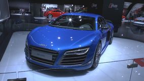 Audi R8 LMX the world's first serial car with lasers lights stock footage