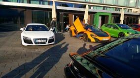 Audi R8    mclaren Stock Photo