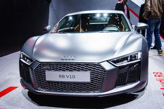 Audi R8, Motor Show Geneve 2015. Royalty Free Stock Images