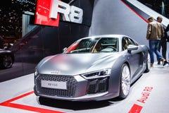 Audi R8, Motorshow Geneve 2015 Stock Afbeeldingen