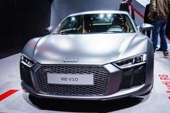 Audi R8, Motorshow Geneve 2015 Royalty-vrije Stock Afbeeldingen