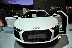 Audi R8 pokaz podczas Singapur Motorshow 2016 Fotografia Stock