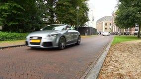 Audi R8, Porsche 911, BMW i8, Audi TT, Porsche 911 Convertible and Ferrari F430 Spider. Parade of exclusive sports cars including a Audi R8, Porsche 911, BMW i8