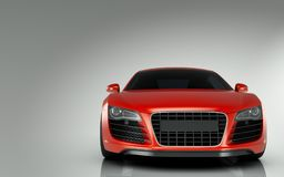 Audi r8 sports car. On grey background Royalty Free Stock Photo