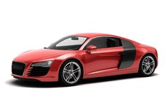 Audi r8 sports car vector illustration