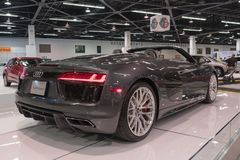Audi R8 R8 Spyder на дисплее Стоковое фото RF