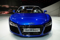 Audi R8 Spyder Convertible sports car Royalty Free Stock Photo