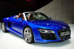 Audi R8 Spyder Convertible sports car Royalty Free Stock Photography