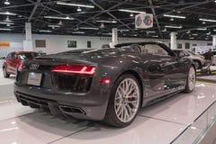 Audi R8 R8 Spyder på skärm Royaltyfri Foto