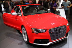 Audi R 5.5 2016. Audi R 5.5 Supercar 2016 at Chicago car show 2015 Stock Photo
