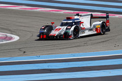 Audi R18 on track Stock Photos