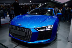 Audi R8 V10 bij de IAA-Auto's Royalty-vrije Stock Fotografie